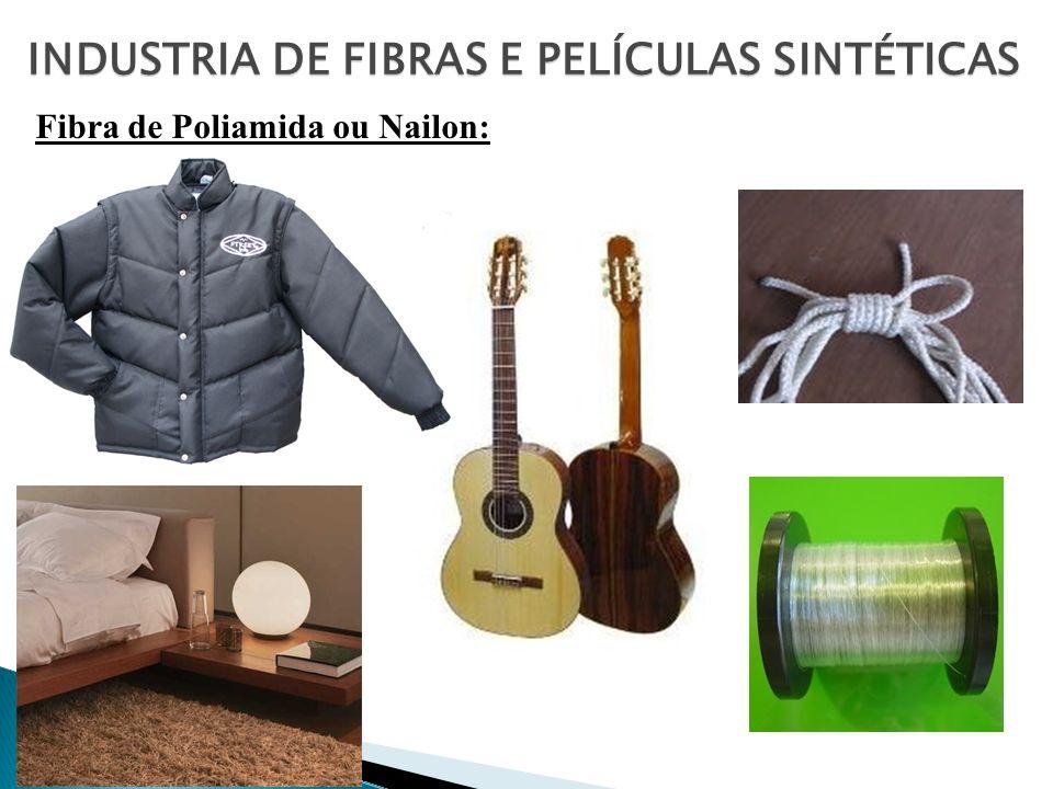 Fibra de Poliamida ou Nailon: INDUSTRIA DE FIBRAS E PELÍCULAS SINTÉTICAS
