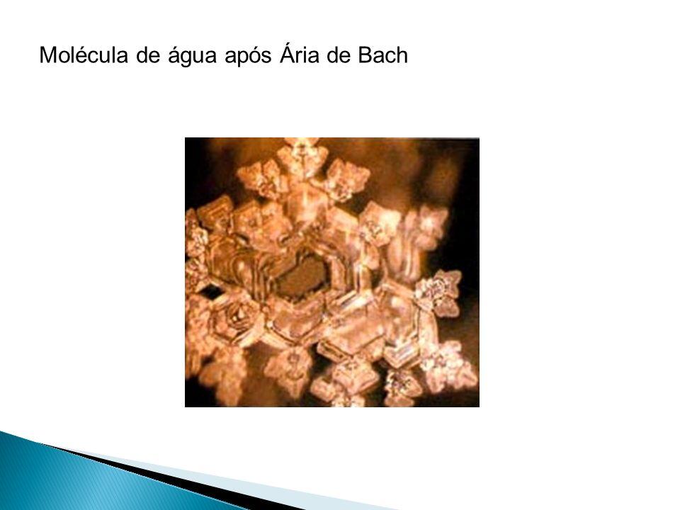 Molécula de água após Ária de Bach