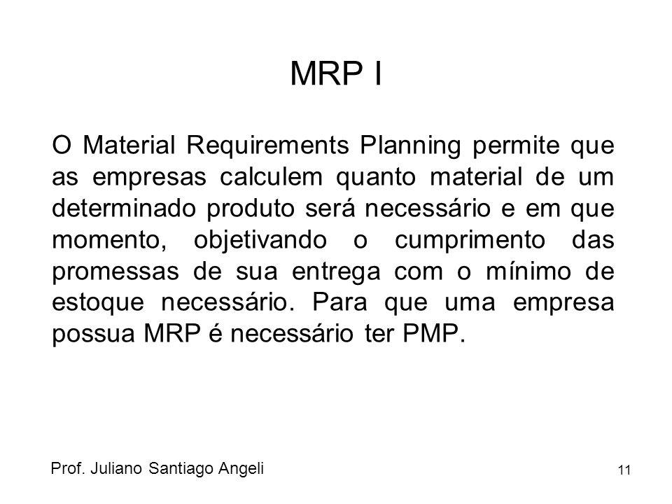 11 MRP I O Material Requirements Planning permite que as empresas calculem quanto material de um determinado produto será necessário e em que momento,