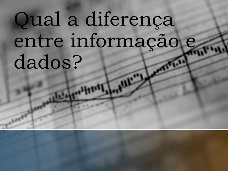 Qual a diferença entre informação e dados