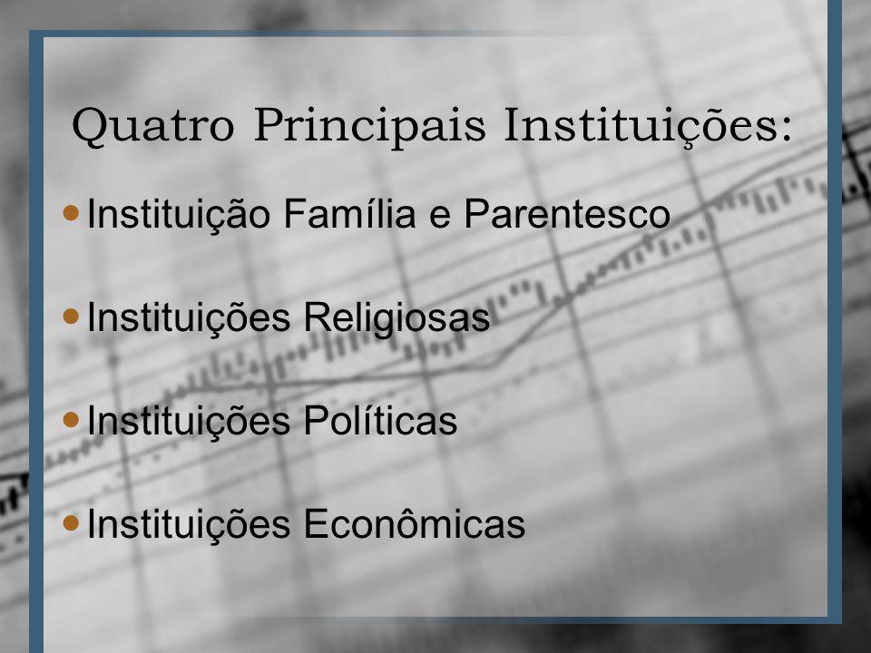 Conceituação e Características Organização Social INSTITUIÇÕESASSOCIAÇÕES