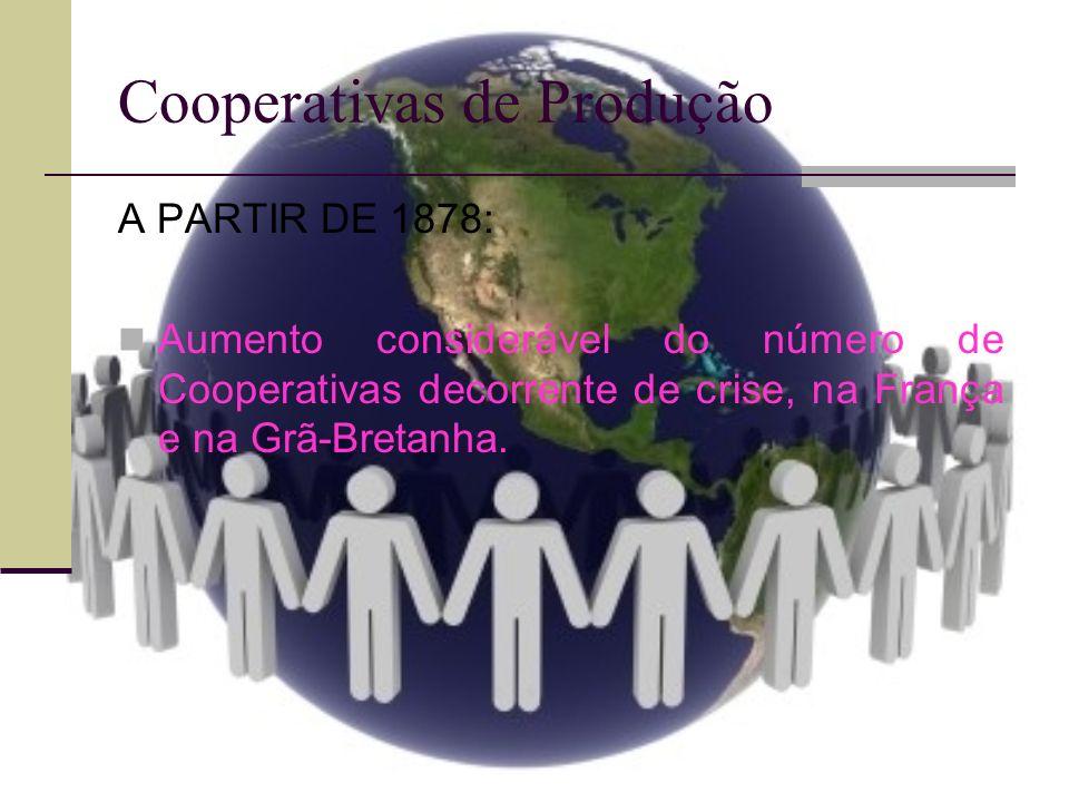 Cooperativas de Produção ITÁLIA: Maior número de Cooperativas.