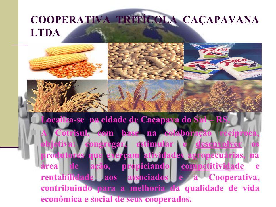 COOPERATIVA TRITÍCOLA CAÇAPAVANA LTDA Localiza-se na cidade de Caçapava do Sul – RS. A Cotrisul, com base na colaboração recíproca, objetiva: congrega