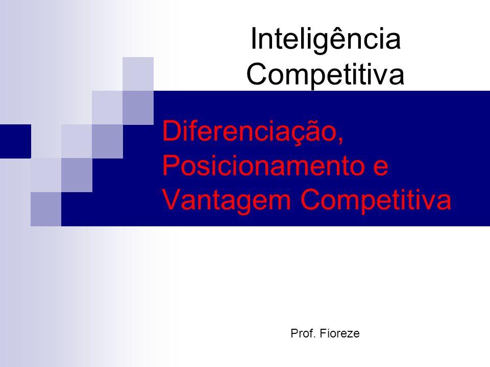 Inteligência Competitiva Diferenciação, Posicionamento e Vantagem Competitiva Prof. Fioreze