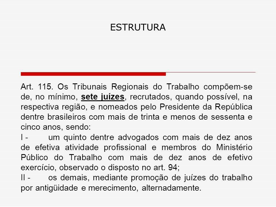 ESTRUTURA Art.115.