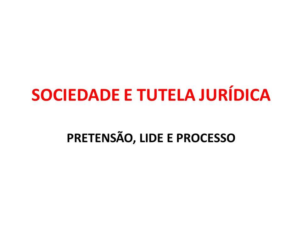 SOCIEDADE E TUTELA JURÍDICA PRETENSÃO, LIDE E PROCESSO