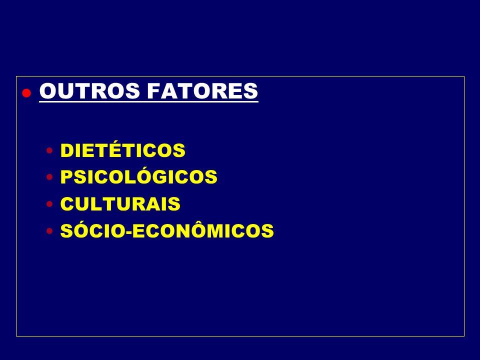 l Fatores Endócrinos Hipotireoidismo Deficiência do Hormônio de Crescimento Síndrome de Cushing Crânio Faringioma, etc