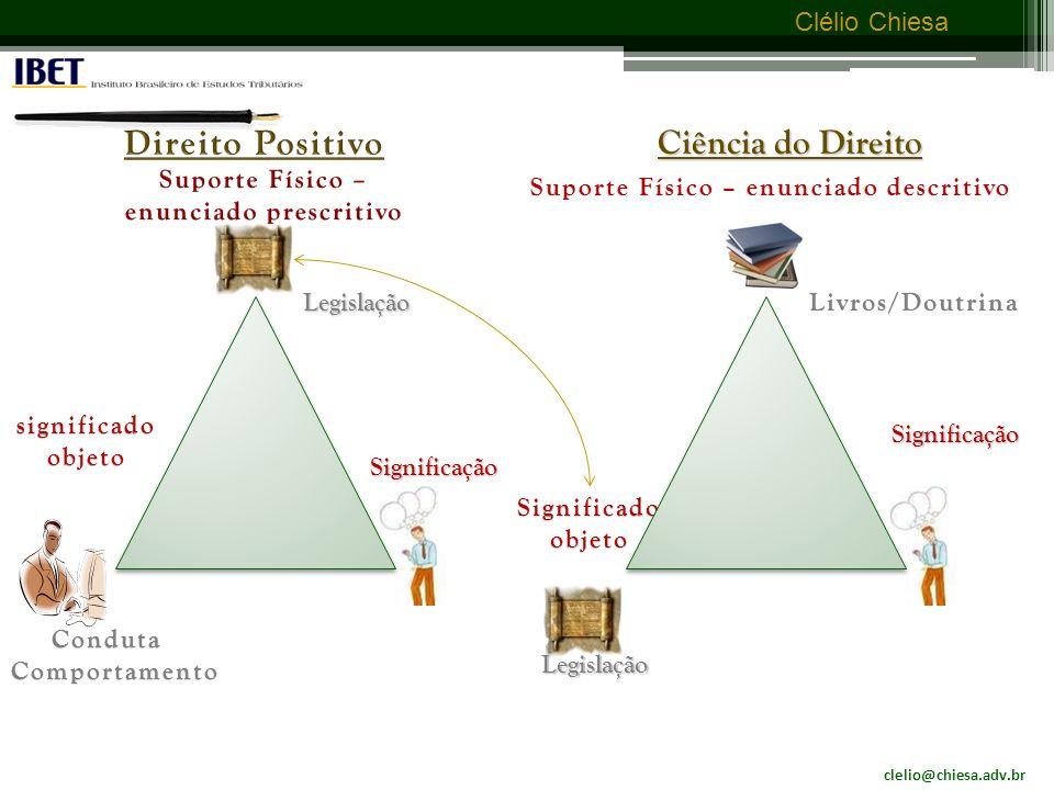 clelio@chiesa.adv.br Clélio Chiesa Direito Positivo e Ciência do Direito - seus planos