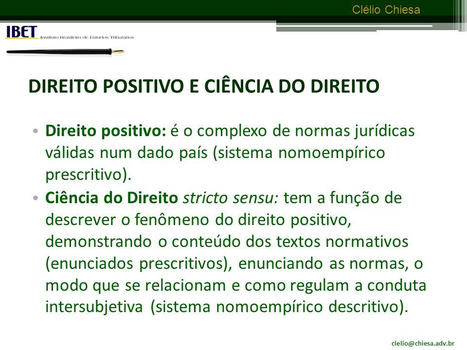 clelio@chiesa.adv.br Clélio Chiesa DIREITO – ambiguidade do termo