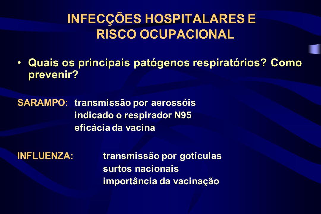Influenza 1 a campanha: 1999 – Serviço de Epidemiologia Estratégia: equipe móvel –1432 vacinados (> percentual entre estudantes e terceirizados) –Maior impacto da equipe móvel para funcionários da assistência direta