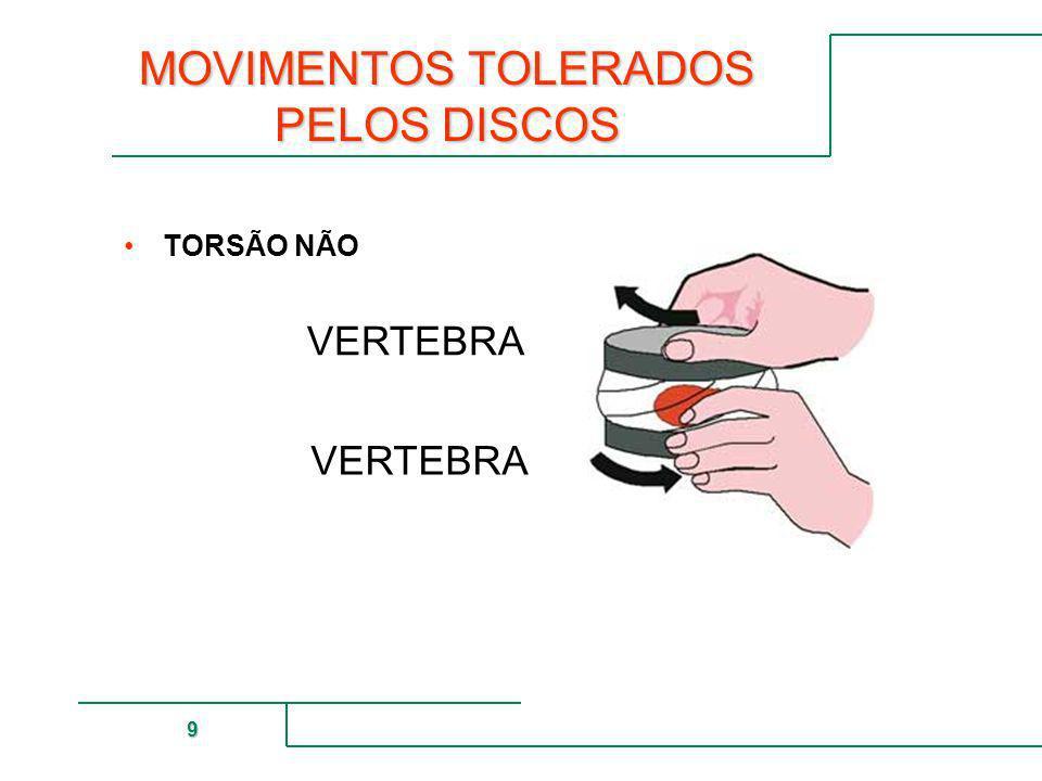 MUTUAL DE SEGURIDAD 9 MOVIMENTOS TOLERADOS PELOS DISCOS TORSÃO NÃO VERTEBRA