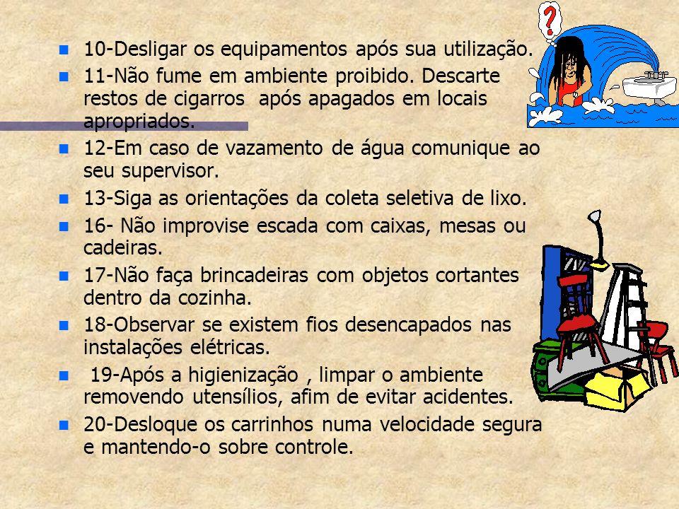 Medidas de Segurança e Controle n n 1-Usar equipamento completo: avental trevira, bota de borracha, luva de Pvc. n n 2-Empilhar materiais de forma cor