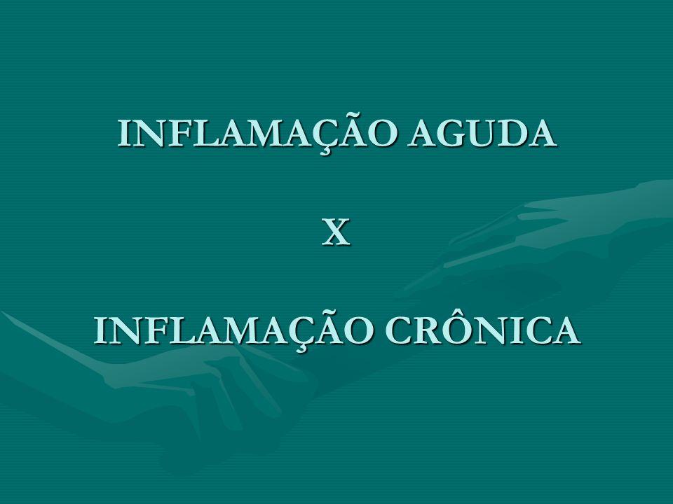 INFLAMAÇÃO AGUDA X INFLAMAÇÃO CRÔNICA