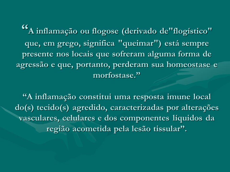 A inflamação ou flogose (derivado de