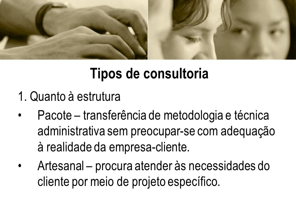 Tipos de consultoria 2.