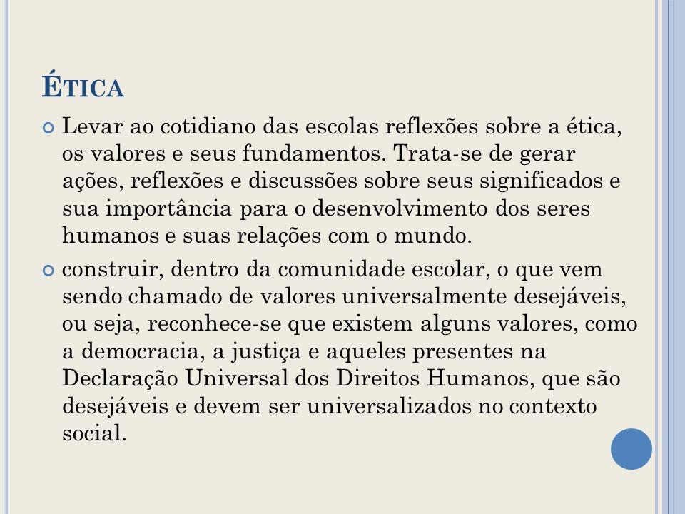 CONVIVÊNCIA DEMOCRÁTICA Promover reflexões, discussões e apontar caminhos pedagógicos para a construção de relações interpessoais democráticas no convívio escolar pautadas no diálogo e na resolução pacífica de conflitos.
