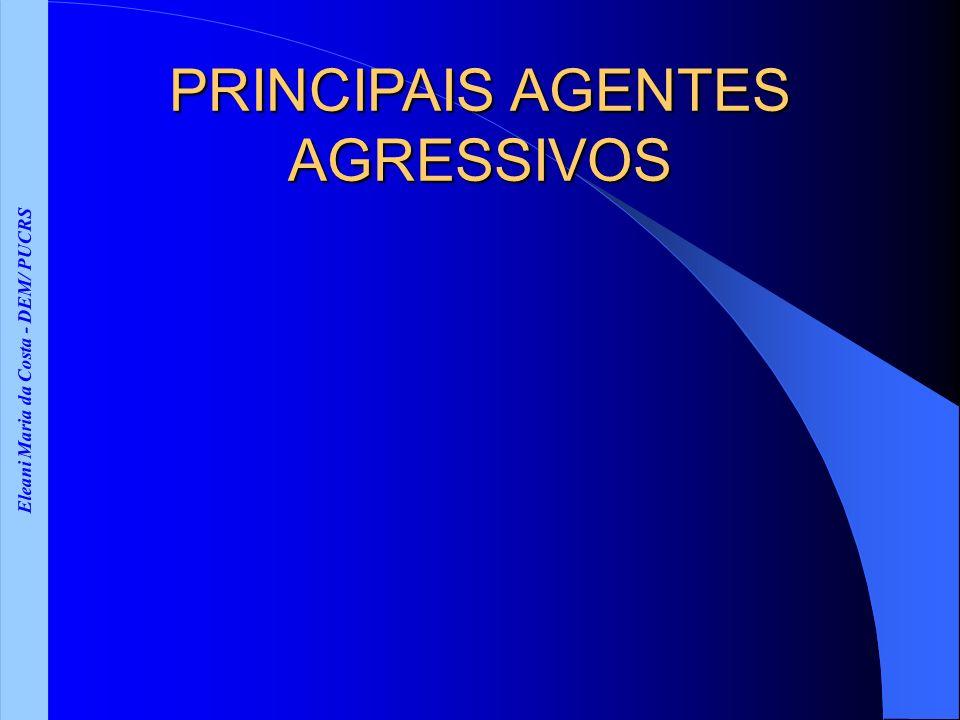 Eleani Maria da Costa - DEM/ PUCRS PRINCIPAIS AGENTES AGRESSIVOS