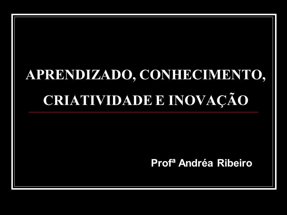 APRENDIZADO, CONHECIMENTO, CRIATIVIDADE E INOVAÇÃO Profª Andréa Ribeiro