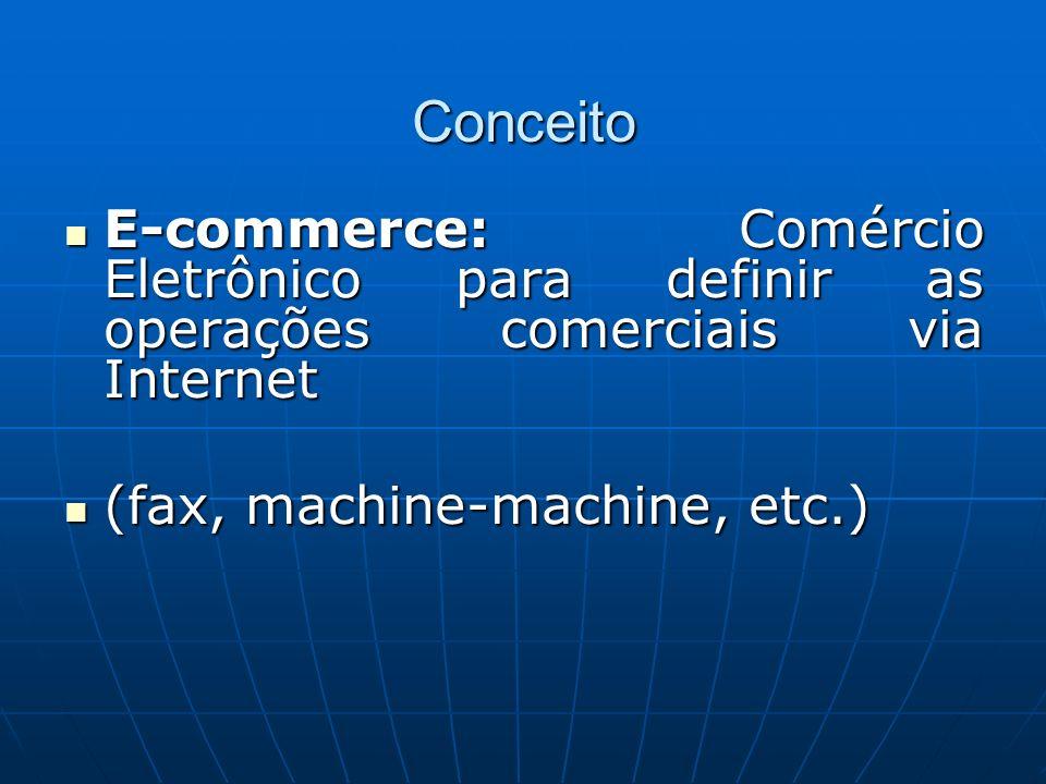 Conceito E-commerce: Comércio Eletrônico para definir as operações comerciais via Internet E-commerce: Comércio Eletrônico para definir as operações c