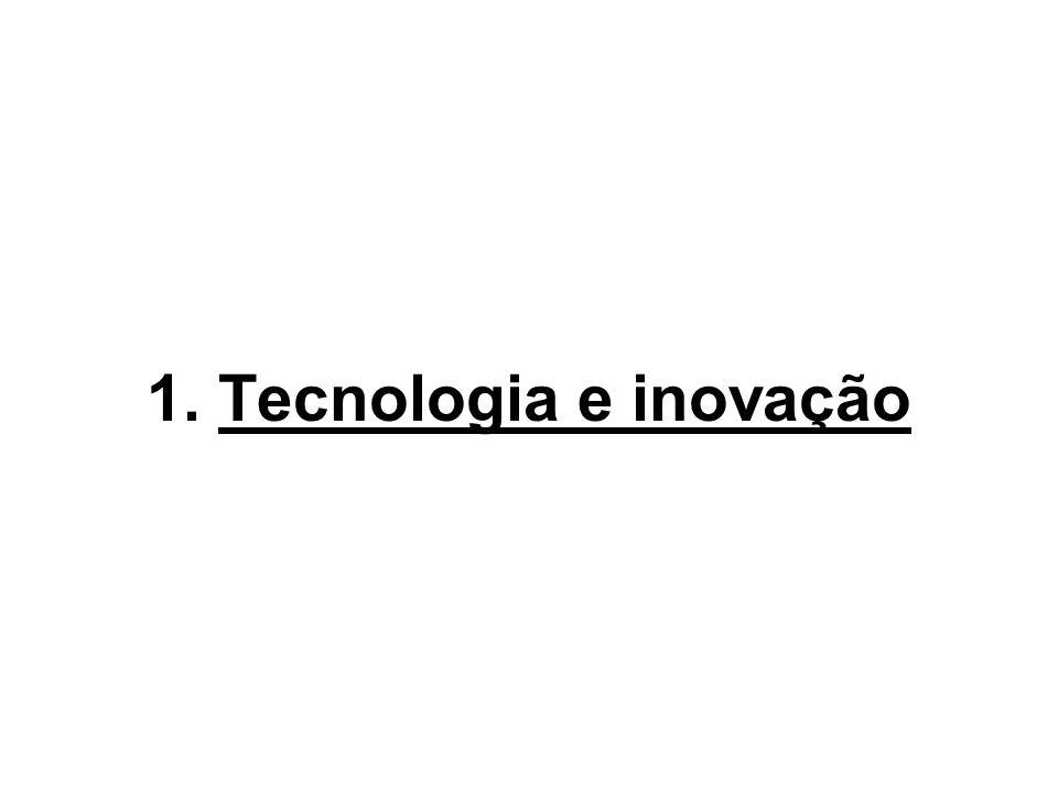 Tecnologia – aplicação sistemática do conhecimento científico em um novo produto, processo ou serviço.