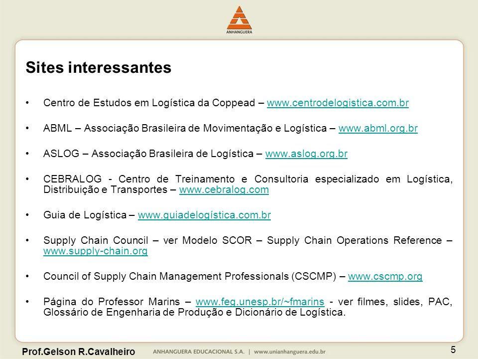 Prof.Gelson R.Cavalheiro 5 Sites interessantes Centro de Estudos em Logística da Coppead – www.centrodelogistica.com.brwww.centrodelogistica.com.br AB