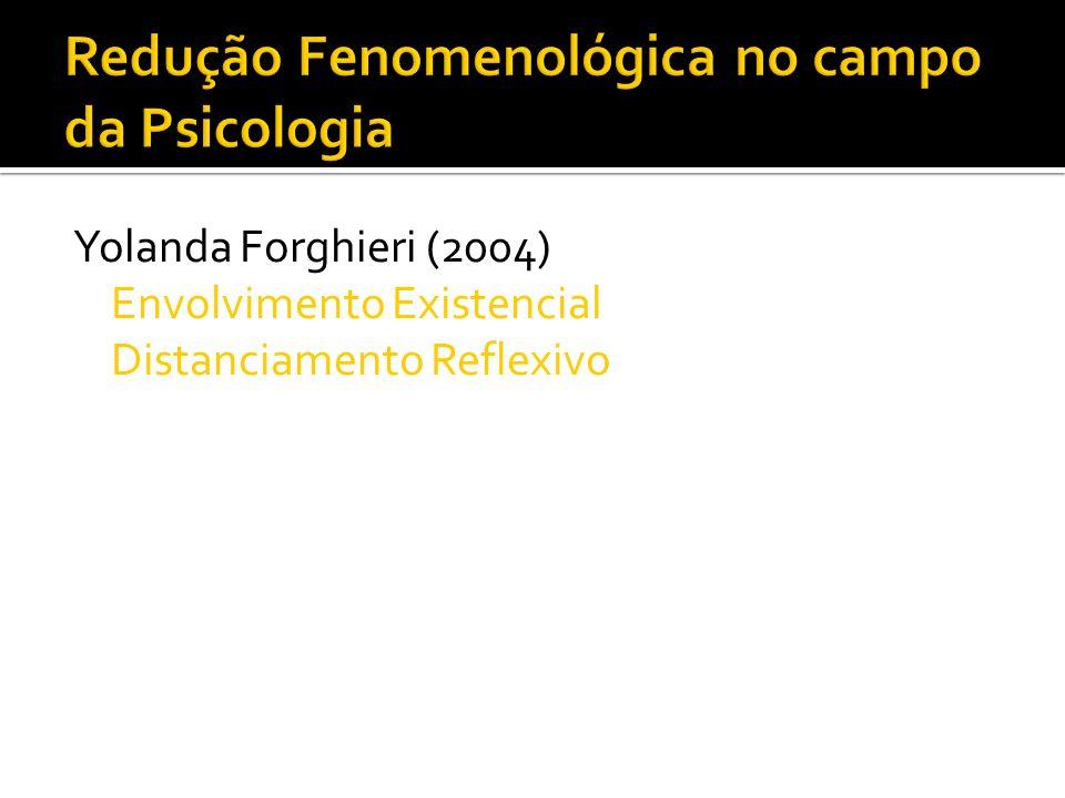 Yolanda Forghieri (2004) Envolvimento Existencial Distanciamento Reflexivo