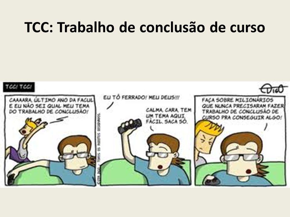 TCC: Trabalho de conclusão de curso