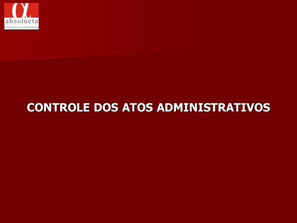 CONTROLE DOS ATOS ADMINISTRATIVOS