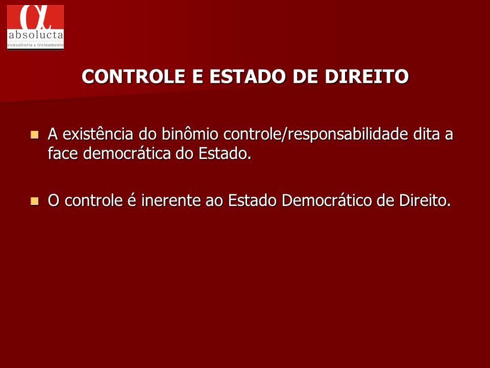 A existência do binômio controle/responsabilidade dita a face democrática do Estado. A existência do binômio controle/responsabilidade dita a face dem