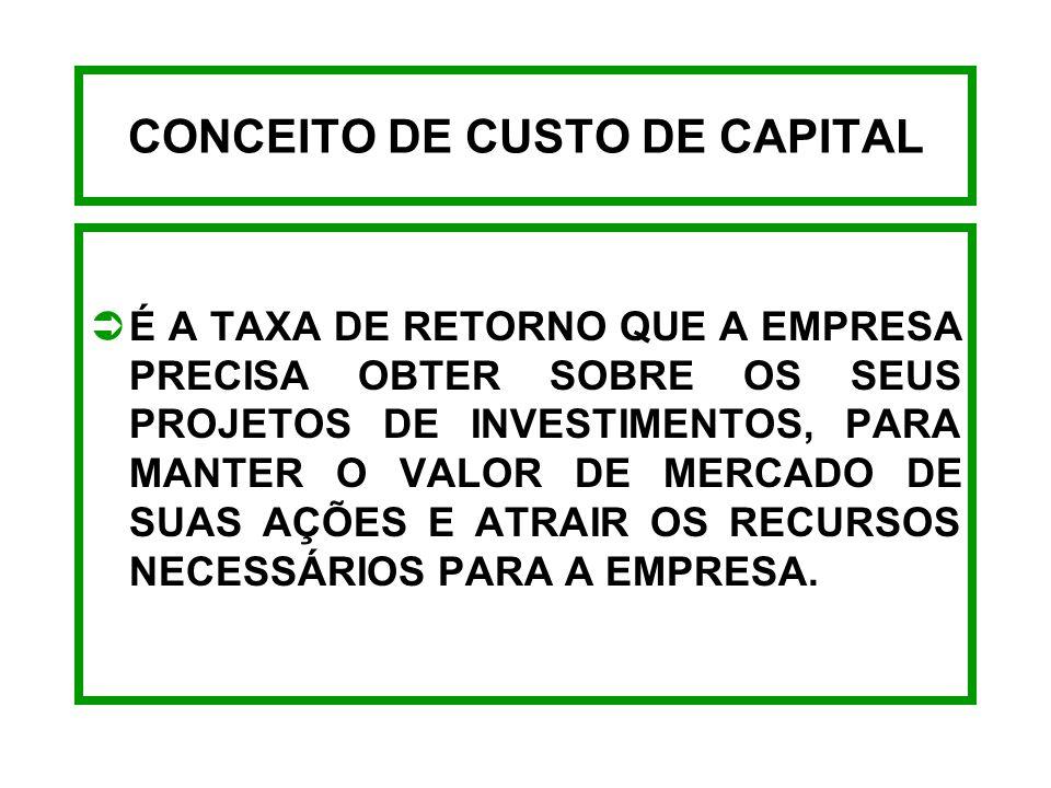 ABRANGÊNCIA DO CUSTO DE CAPITAL ATIVOATIVO CREDORES OPERACIONAIS FINANCIAMENTO CREDORES FINANCEIROS PATRIMÔNIO LÍQUIDO - AÇÕES PREFERENCIAIS - AÇÕES O