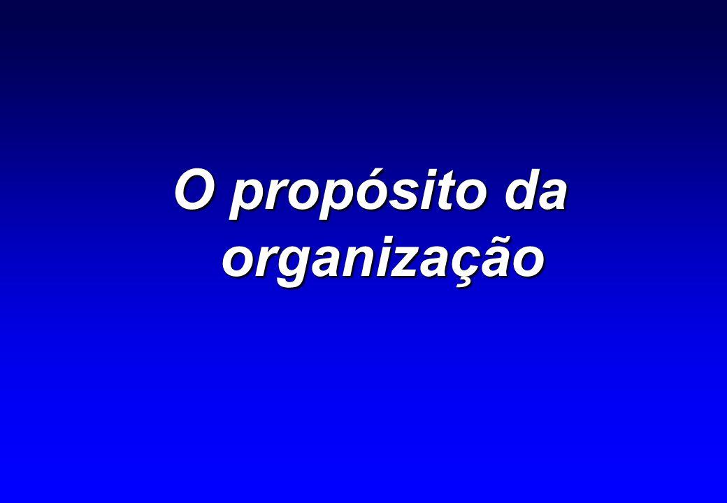 O propósito é um conjunto consistente de elementos intrínsecos que motivam e condicionam construção do futuro de uma organização.