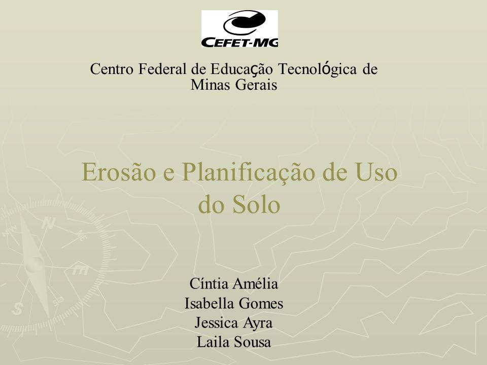 Erosão e Planificação de Uso do Solo Centro Federal de Educa ç ão Tecnol ó gica de Minas Gerais Cíntia Amélia Isabella Gomes Jessica Ayra Laila Sousa