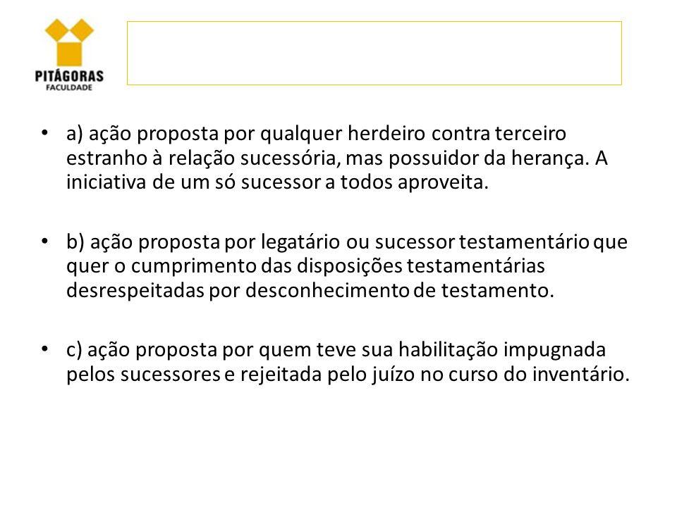 Havendo acolhimento do pedido, o possuidor da herança ficará obrigado a promover a restituição dos bens do acervo.