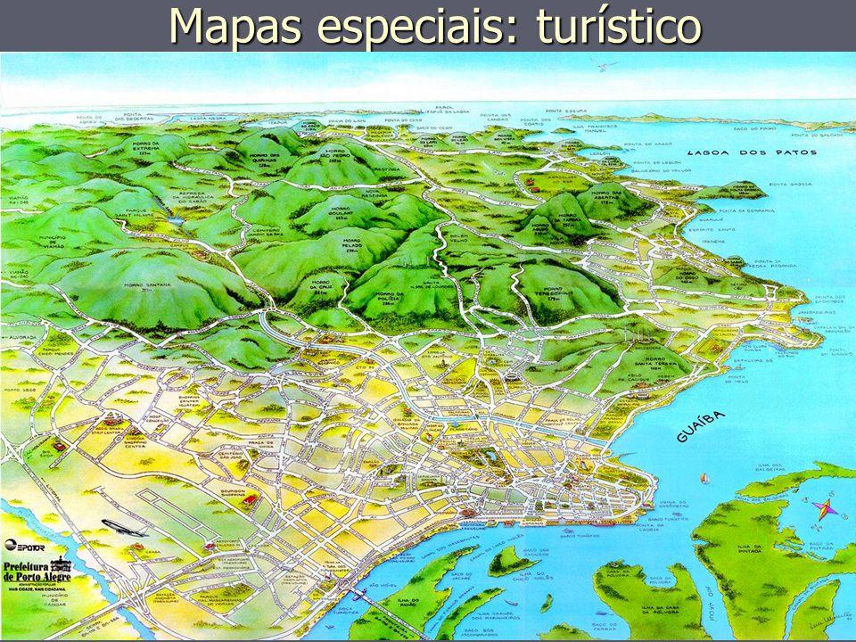 Mapas especiais: turístico