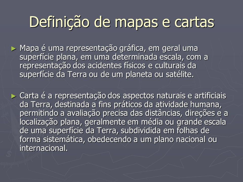 Projeções cartográficas Principais projeções no Brasil UTM (Universal Transverse Mercator) cartas topográficas cartas topográficas