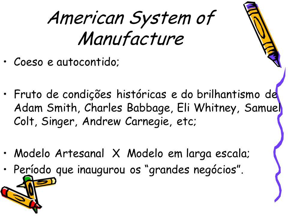 Produção Em Massa Século XX; Administração Científica – Taylor; Produto: Automóvel; Henry Ford – domínio norte-americano na área de gestão de operações;
