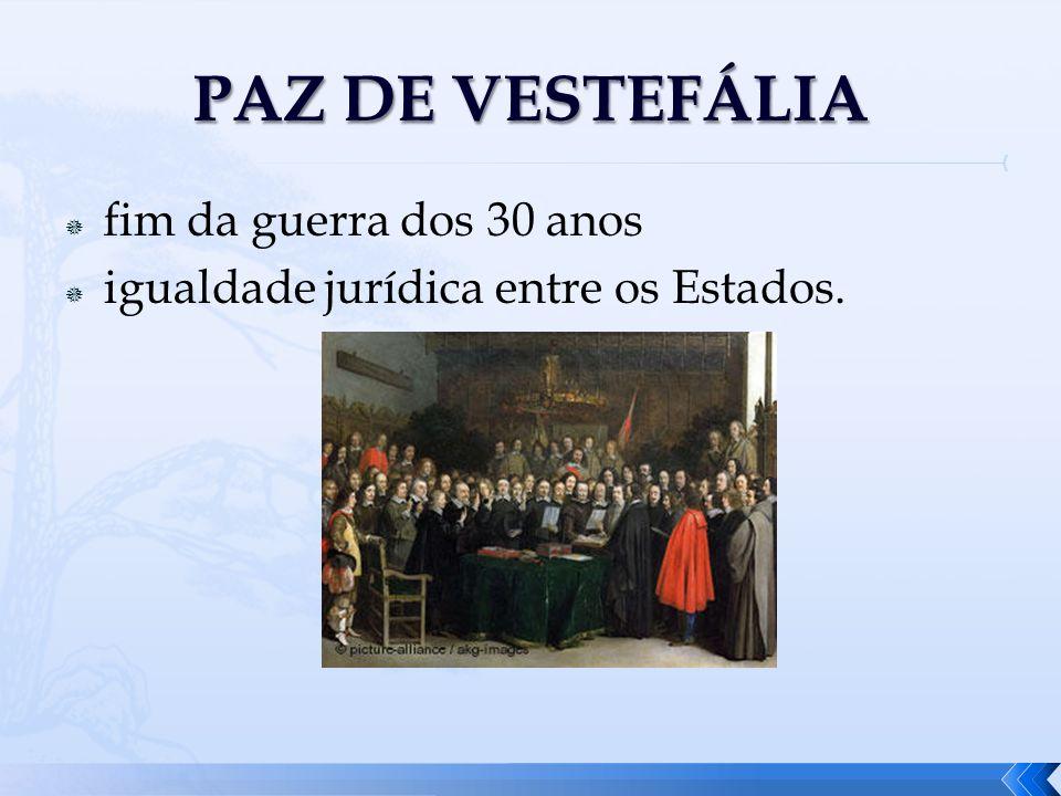 fim da guerra dos 30 anos igualdade jurídica entre os Estados.
