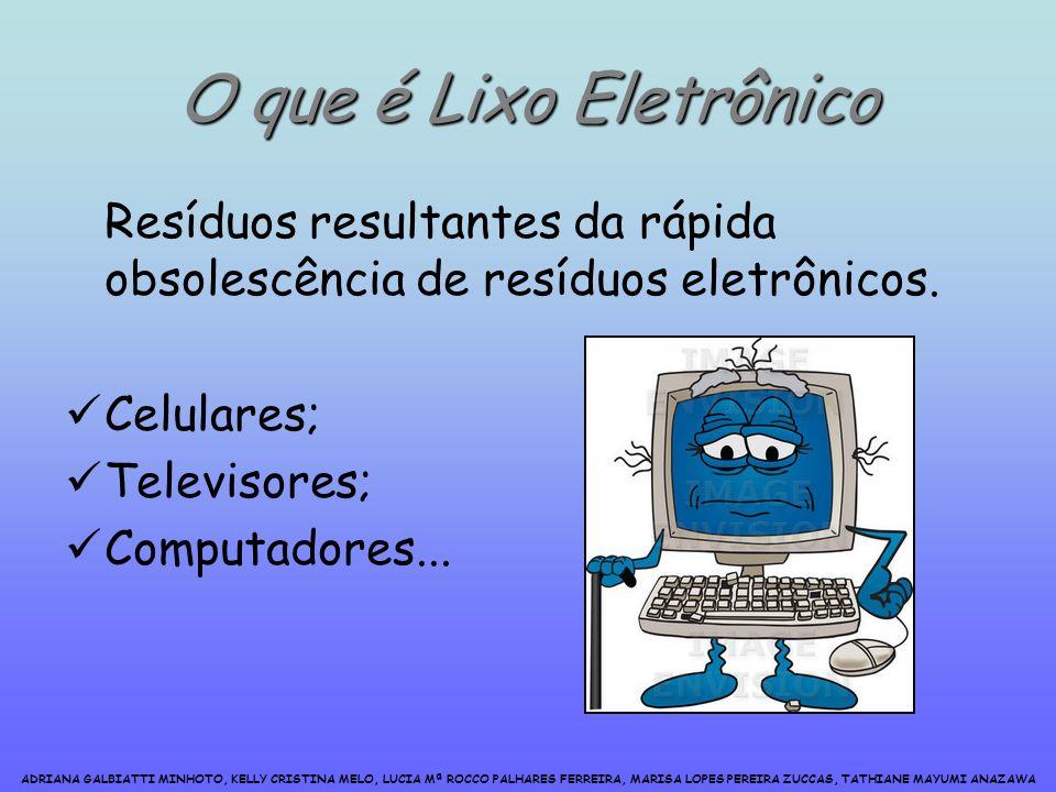 O que é Lixo Eletrônico Resíduos resultantes da rápida obsolescência de resíduos eletrônicos.