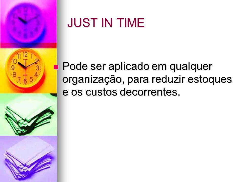 Just In Time O Just in time é o principal pilar do Sistema Toyota de Produção ou Produção enxuta.