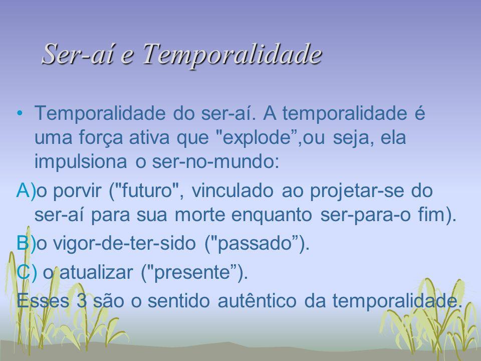 Ser-aí e Temporalidade Temporalidade do ser-aí. A temporalidade é uma força ativa que