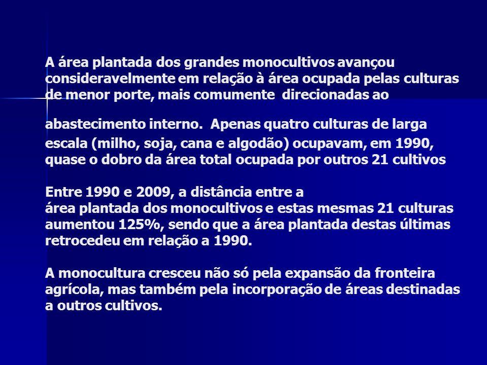 O pacote tecnológico aplicado nas monoculturas em franca expansão levou o Brasil a ser o maior mercado de agrotóxicos do mundo.