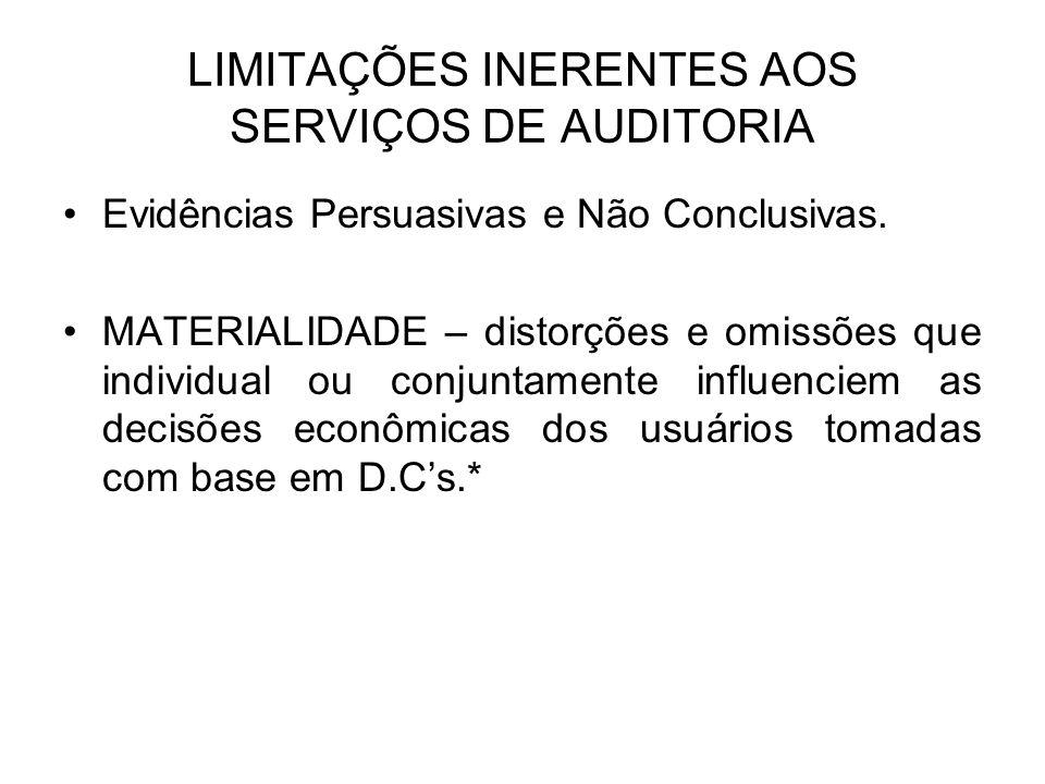 A AUDITORIA E SUAS CLASSIFICAÇÕES AUDITORIA DE DEMONSTRAÇÕES CONTÁBEIS.