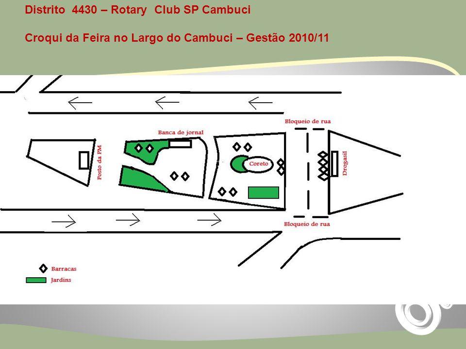 Distrito 4430 – Rotary Club SP Cambuci Croqui da Feira no Largo do Cambuci – Gestão 2010/11