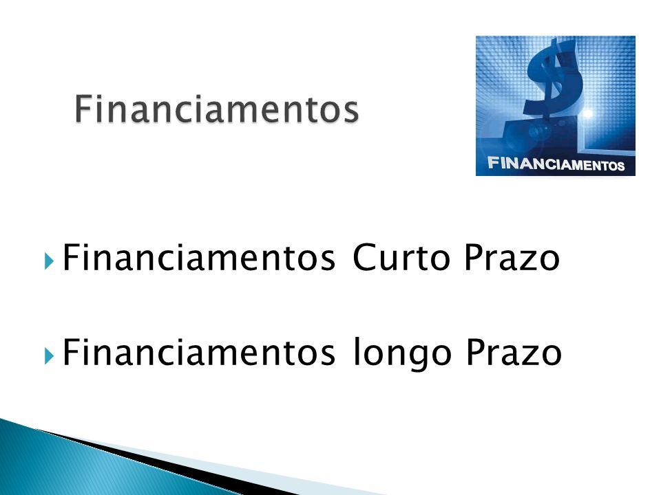 Financiamentos Curto Prazo Financiamentos longo Prazo