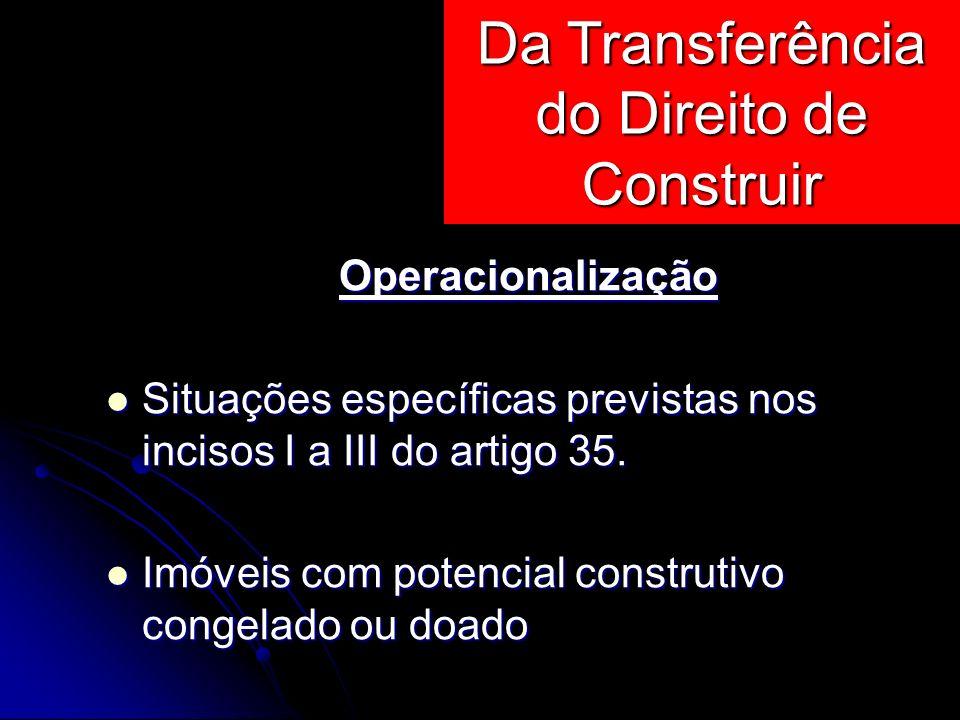 Operacionalização Situações específicas previstas nos incisos I a III do artigo 35. Situações específicas previstas nos incisos I a III do artigo 35.