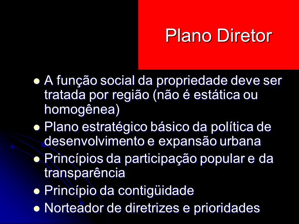 A função social da propriedade deve ser tratada por região (não é estática ou homogênea) A função social da propriedade deve ser tratada por região (n