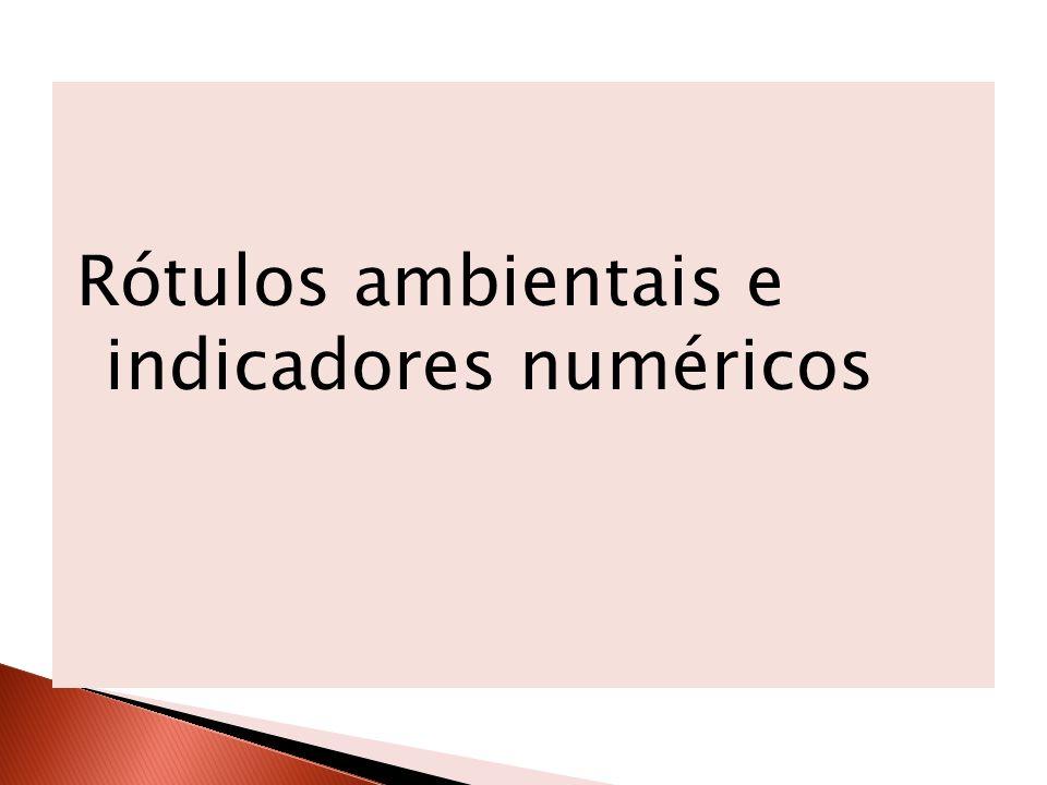 Rótulos ambientais e indicadores numéricos