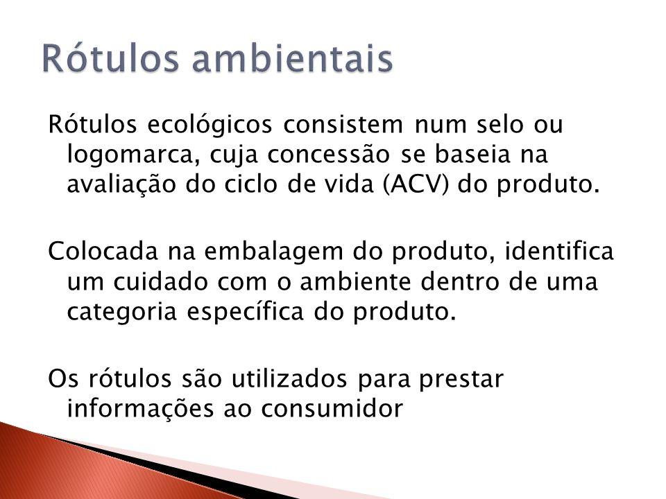 Rótulos ecológicos consistem num selo ou logomarca, cuja concessão se baseia na avaliação do ciclo de vida (ACV) do produto. Colocada na embalagem do