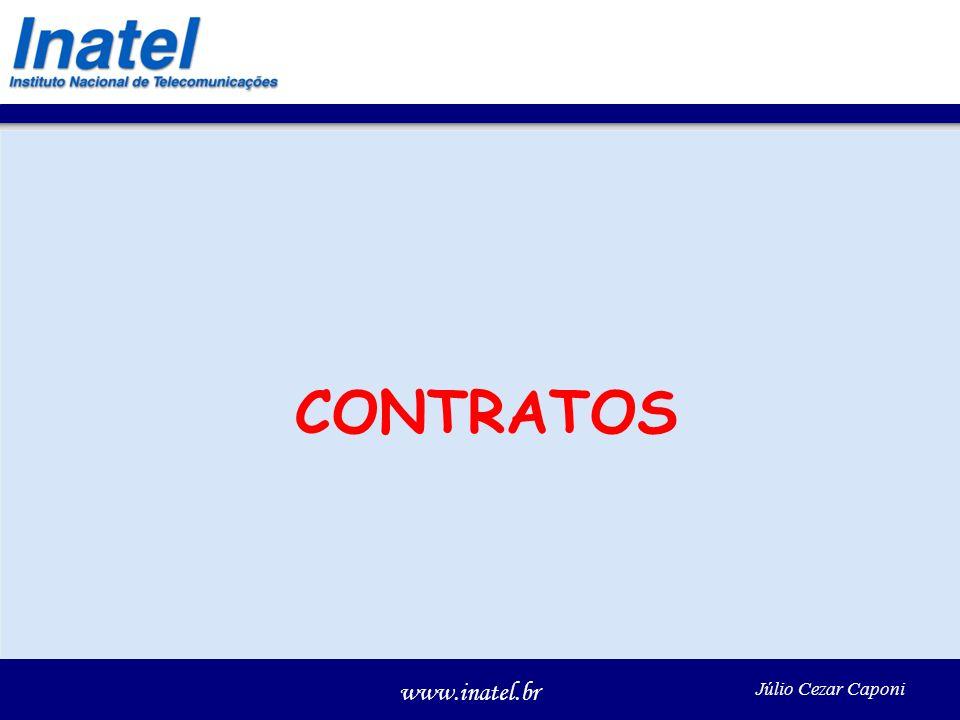 www.inatel.br Júlio Cezar Caponi CONTRATOS