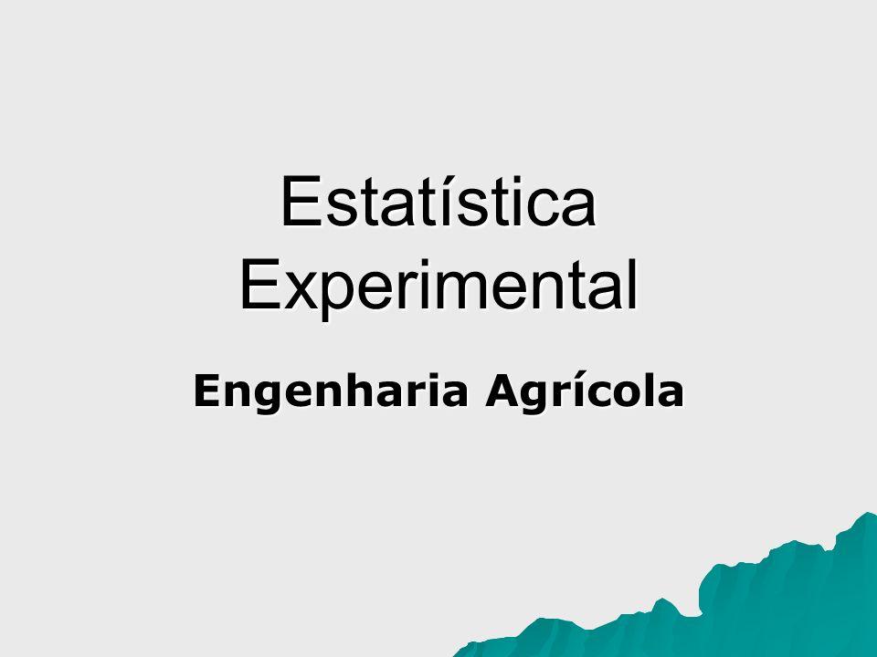 Estatística Experimental Engenharia Agrícola